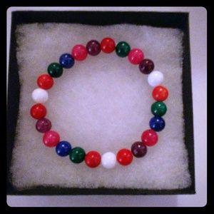 Jewelry - Rainbow Mountain Jade Stone Bracelet